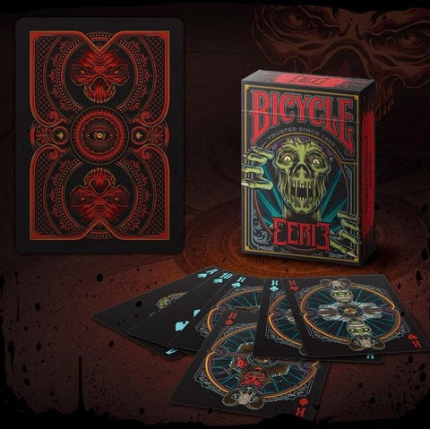 Eerie Playing Cards Horror Red Edition Halloween Magic Poker Deck Undead New
