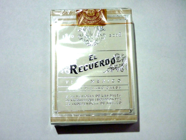 El Recuerdo Victoria Playing Cards Mexican Deck White Edition