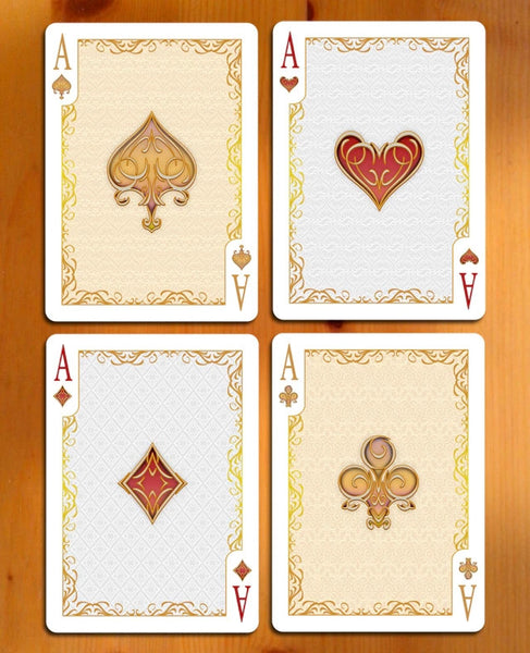Buyworthy:Elegance Playing Cards Emerald Luxury Deck ~ Gold Foil case Metallic Inks Rare