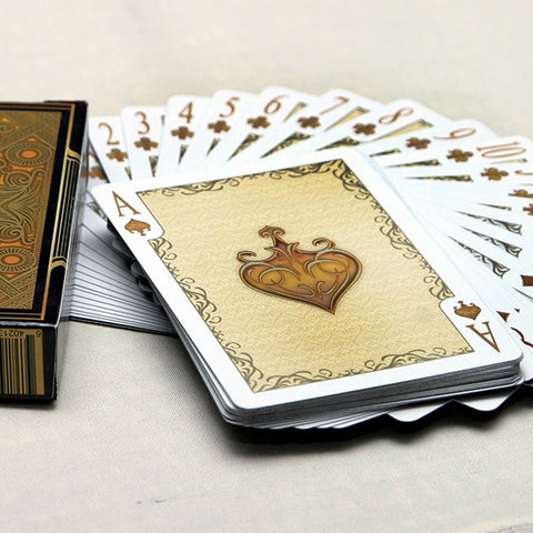 Elegance Playing Cards Luxury Deck Gold Foil case Metallic Inks