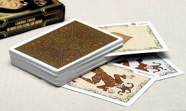 Playing Card Gift Set Elegance Gentleman Spirit Gold 4 Decks