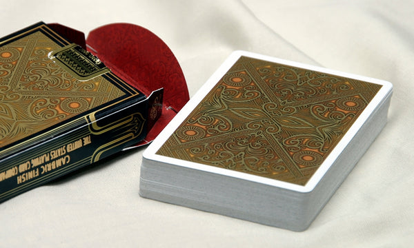 Elegance Luxury Playing Cards Black Gloss Wooden Box Set