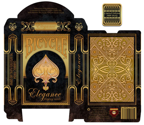 Elegance Playing Cards Luxury Deck ~ Gold Foil Embossed case Metallic Inks Rare