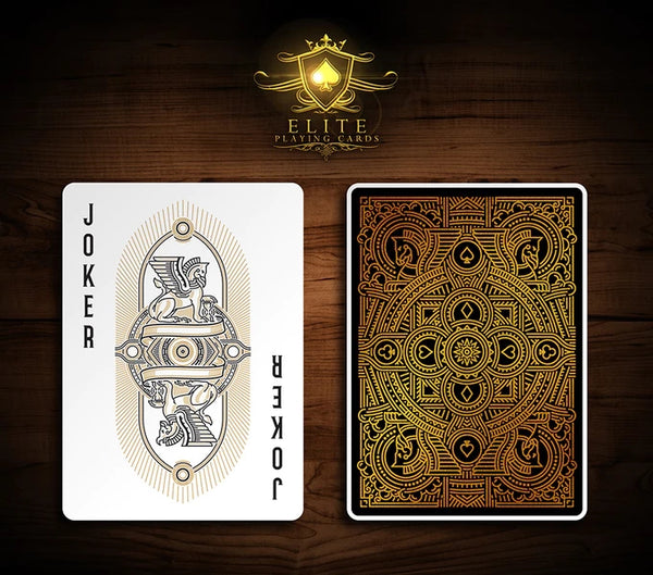 Premium Elite Playing Cards Deck Rare Gold Gilded & Signed