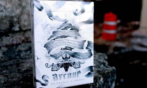 Arcane Playing Cards White Edition Deck Brand New & Sealed Magic