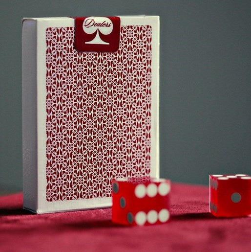 Madison Dealers Playing Cards Red Rare Deck White Border edition by Ellusionist