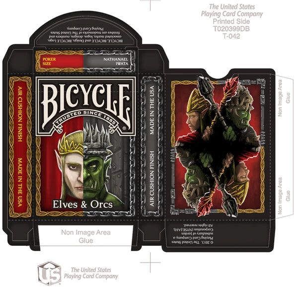 Elves & Orcs Playing Cards Fantasy Deck Bicycle by Nat Iwata