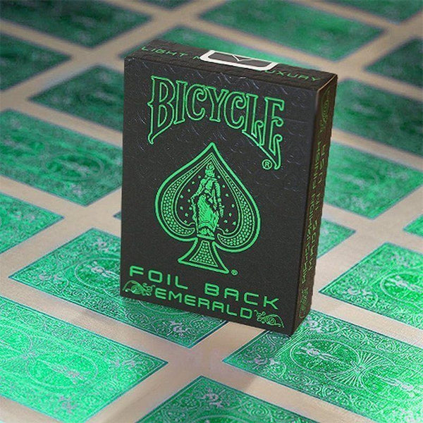 Emerald Foil Back Playing Cards Metal Luxe Finish on All cards