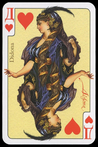 Eneida Playing Cards deck from Kiev artwork by Oksana Ternavskaya