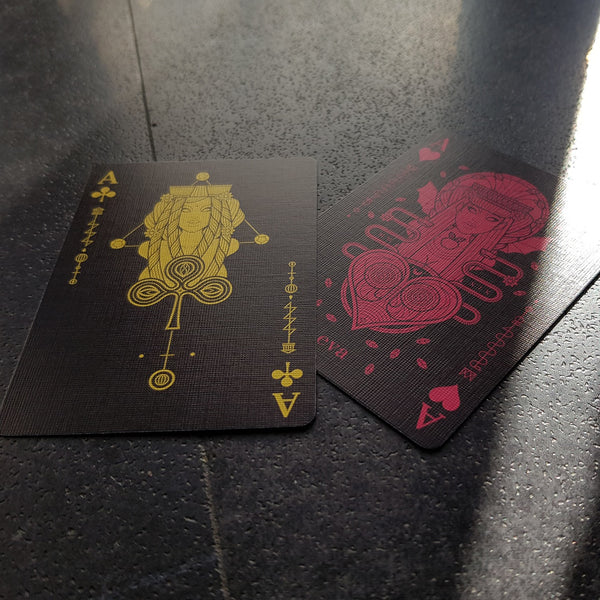 Eva Paradis Playing Cards Gold & Purple Foiled Luxury Limited Edition Numbered