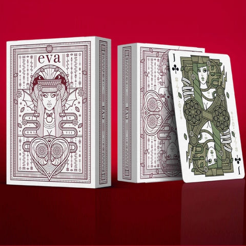 Eva Playing Cards Poker Magic Metallic Inks SINS Rare 2 Decks