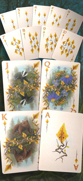 Faunae Playing Cards Vibrant Animal Edition Rare Signed by Artist Jon Carraher