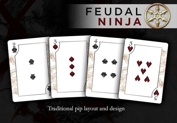 Buyworthy:Feudal NINJA Playing Cards SPECIAL Edition Deck ~ Hand Signed & Stamp Sealed