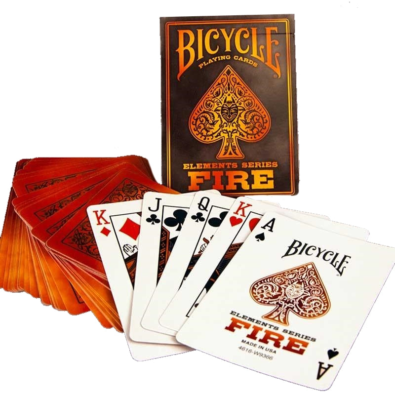 Fire Playing Cards Bicycle Poker Magic Deck Elements Series