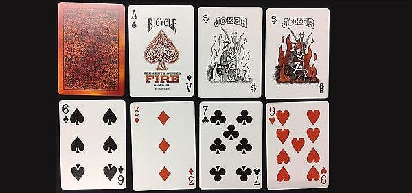 Buyworthy:Fire Playing Cards Bicycle Poker Magic Deck Elements Series Made in the USA