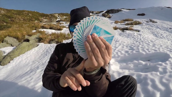 Frozen Art of Cardistry Playing Cards Blue Made in USA by BOCOPO