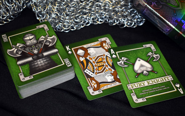Fury Knight Playing Cards Medieval deck in shining armour