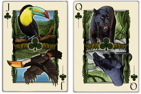 Gaia Playing Cards by Forged Arts Exquisite Animal Sketches