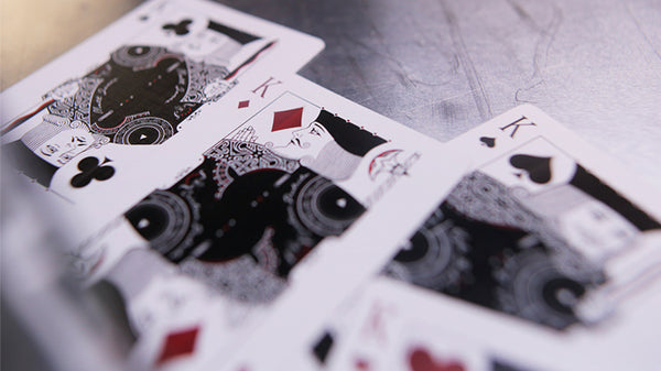 Gambler's Playing Cards Black Borderless Limited Edition by Drop Thirty Two