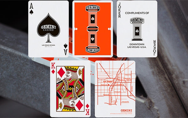 Gemini Casino Playing Cards U.S. Regulation Orange deck Las Vegas