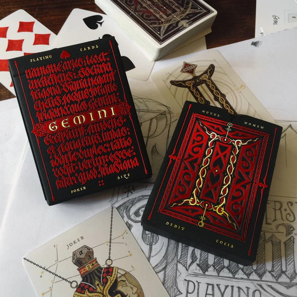 Gemini Ignis Playing Cards Medieval Deck designed in Sweden
