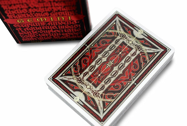 Gemini Ignis Playing Cards Medieval Deck designed in Sweden +1 Free Sticker