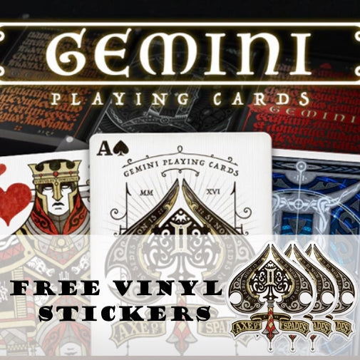Gemini Playing Cards Terra Ignis Noctus Set 3 Decks +3 Stickers