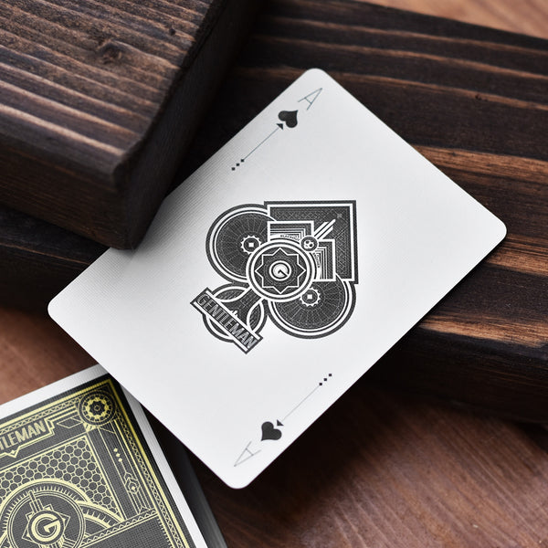Buyworthy:Gentleman Playing Cards Black & Gold Foil tuck case Premium poker magic deck