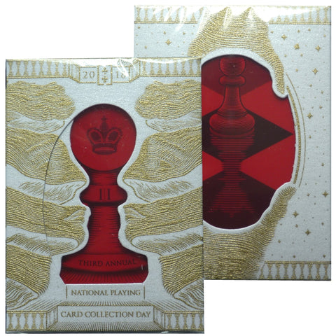 Queen NPCCD 2018 National Playing Card Collection Day Rare GILDED Deck