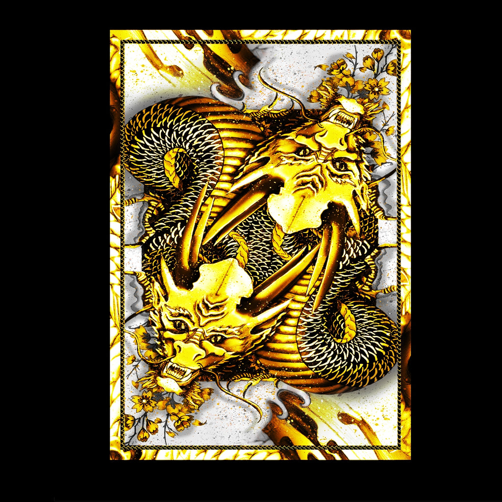 Dragon Series Playing Cards GOLD Edition Japanese Artwork