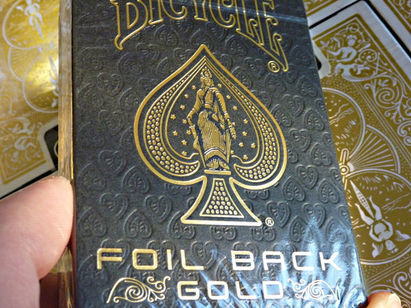 Gold Foil Back Playing Cards ~ MetalLuxe Rare Collectors Deck Bicycle ~ Metal Foil on all cards