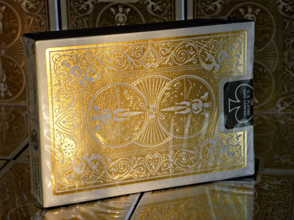 Buyworthy:Gold Foil Back Playing Cards ~ MetalLuxe Rare Collectors Deck Bicycle ~ Metal Foil on all cards