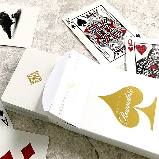 Gold Madison Rounders Playing Cards Rare Magic Ellusionist MetalLuxe Deck
