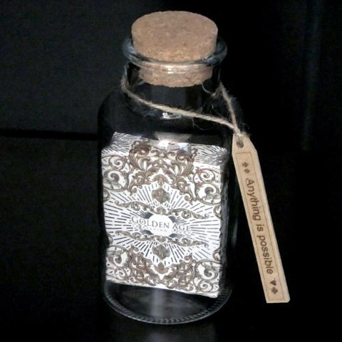 Golden Age Playing Cards White Edition in a Glass Bottle Rare Magic Collectors AIP