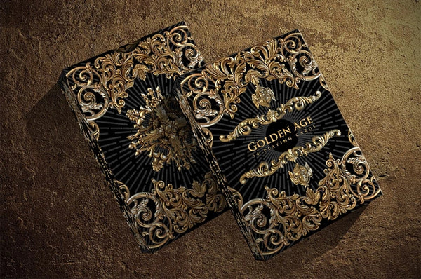 Golden Age Playing Cards Winter Gold Editions ~ 2 Deck Set