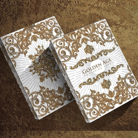 Golden Age Playing Cards White Winter Edition Gold Embossed tuck