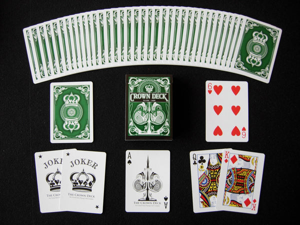 Buyworthy:Green Crown Playing Cards 2nd Edition Blue Crown Series Deck Made in USA