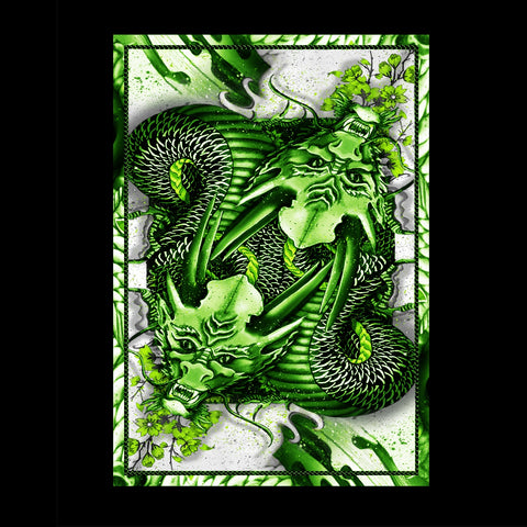 Dragon Series Playing Cards Green Edition Japanese Artwork