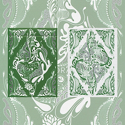 Floral Playing Cards Green Edition deck by Aloys Design Studio