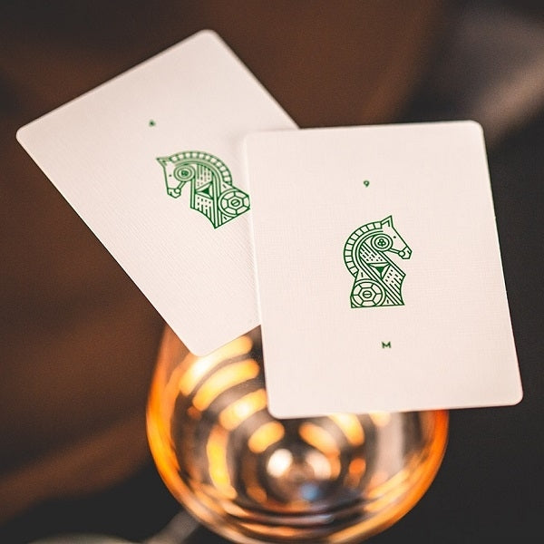 Green Knights Playing Cards Madison Ramsay Ellusionist Magic Deck
