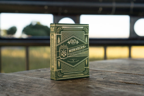 Monarchs Playing Cards Green Edition by Theory 11 Foil Gold
