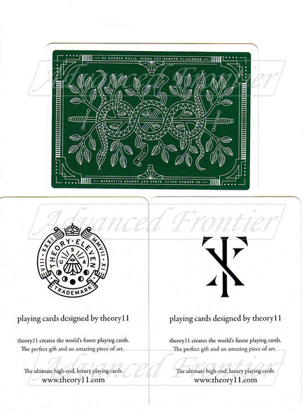Monarchs Playing Cards Green Edition by Theory 11 Gold Foil Luxury Deck