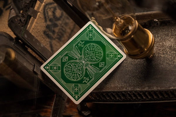Green National Playing Cards Luxury Theory 11 deck Shielded in Gold Foil