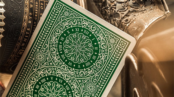 Green Tycoon Playing Cards Gold Luxury Deck by Theory 11