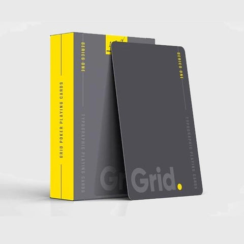 Grid Playing Cards Series One Yellow 1st Edition Typography deck