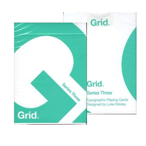 Grid Playing Cards Series Three Green V3 Typographic Deck by Luke Wadey