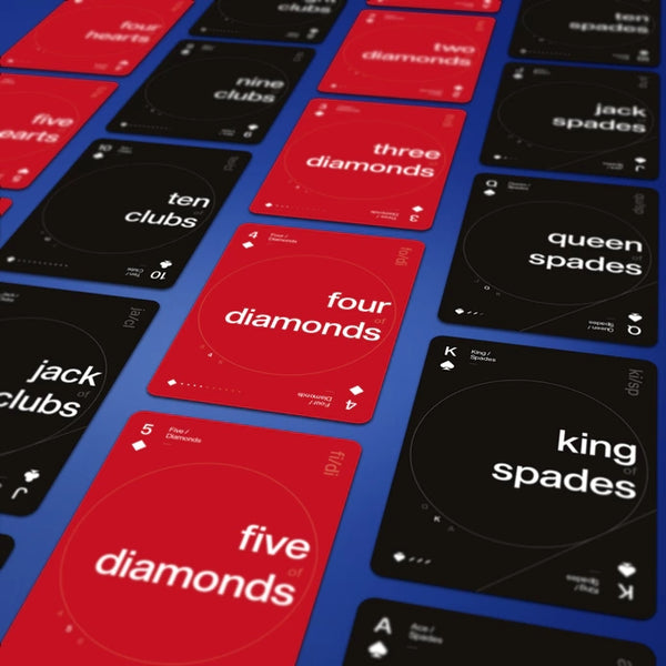 Grid Playing Cards Series Two Blue 2nd Edition Typography deck