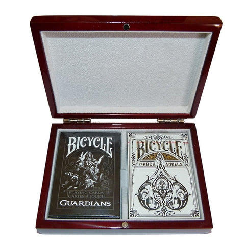 Buyworthy:Guardians Arch Angels Archangels Playing Cards Bicycle Wooden Box Collectors Set