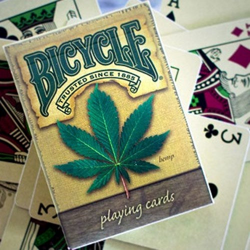 Hemp Playing Cards Deck Bicycle weathered look Made in USA