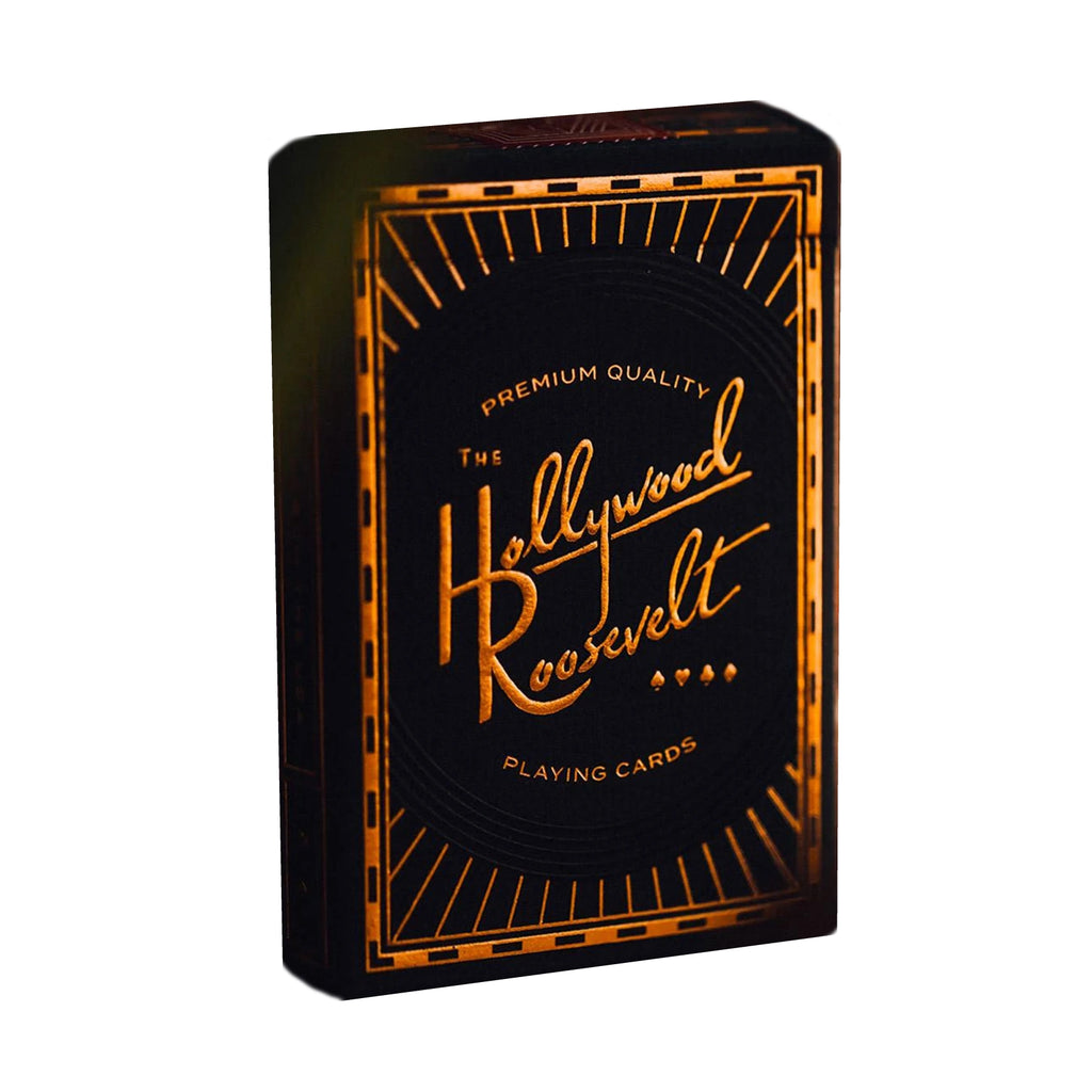 Hollywood Roosevelt Playing Cards Premium Gold Foil